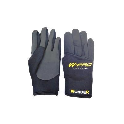 Перчатки Wonder черные с пальцами WG-FGL 062 M