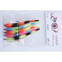 Поролоновая рыбка Jig It 125 #MIX2 пакет 4 шт