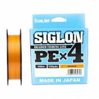 Шнур Sunline Siglon PEx4 Orange 300m #1.7